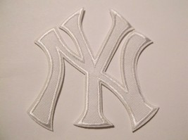 """New York Yankees Ny Embroidered PATCH~3 1/2"""" X 3""""~Iron On~Mlb~Free Us Mail - $4.95"""
