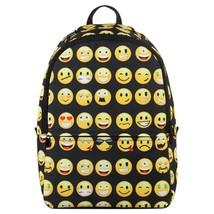 Emoji Kids School Backpack Black Kids Children Teenagers Fun Backpack - $38.15 CAD