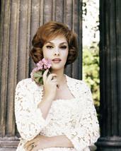 Gina Lollobrigida Stunning Glamour Pose Holding Flowers 16x20 Canvas - $69.99