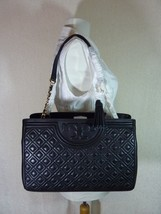 NWT Tory Burch Black Fleming Open Shoulder Tote - $473.20