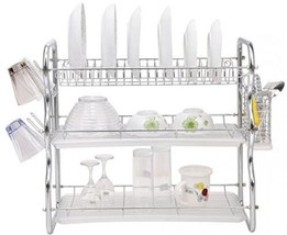 Toplife 3 Tiers Chrome Kitchen Dish Drainer Dry... - $72.09