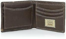 NEW LEVI'S MEN'S PREMIUM LEATHER CREDIT CARD ID WALLET BILLFOLD BROWN 31LV2200 image 3
