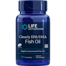 NEW Life Extension Clearly EPA/DHA Non-GMO Easy to Swallow 120 Softgels - $23.59