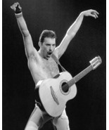 Queen Freddie Mercury bare chested with guitar iconic pose concert 16x20 Canvas  - $69.99