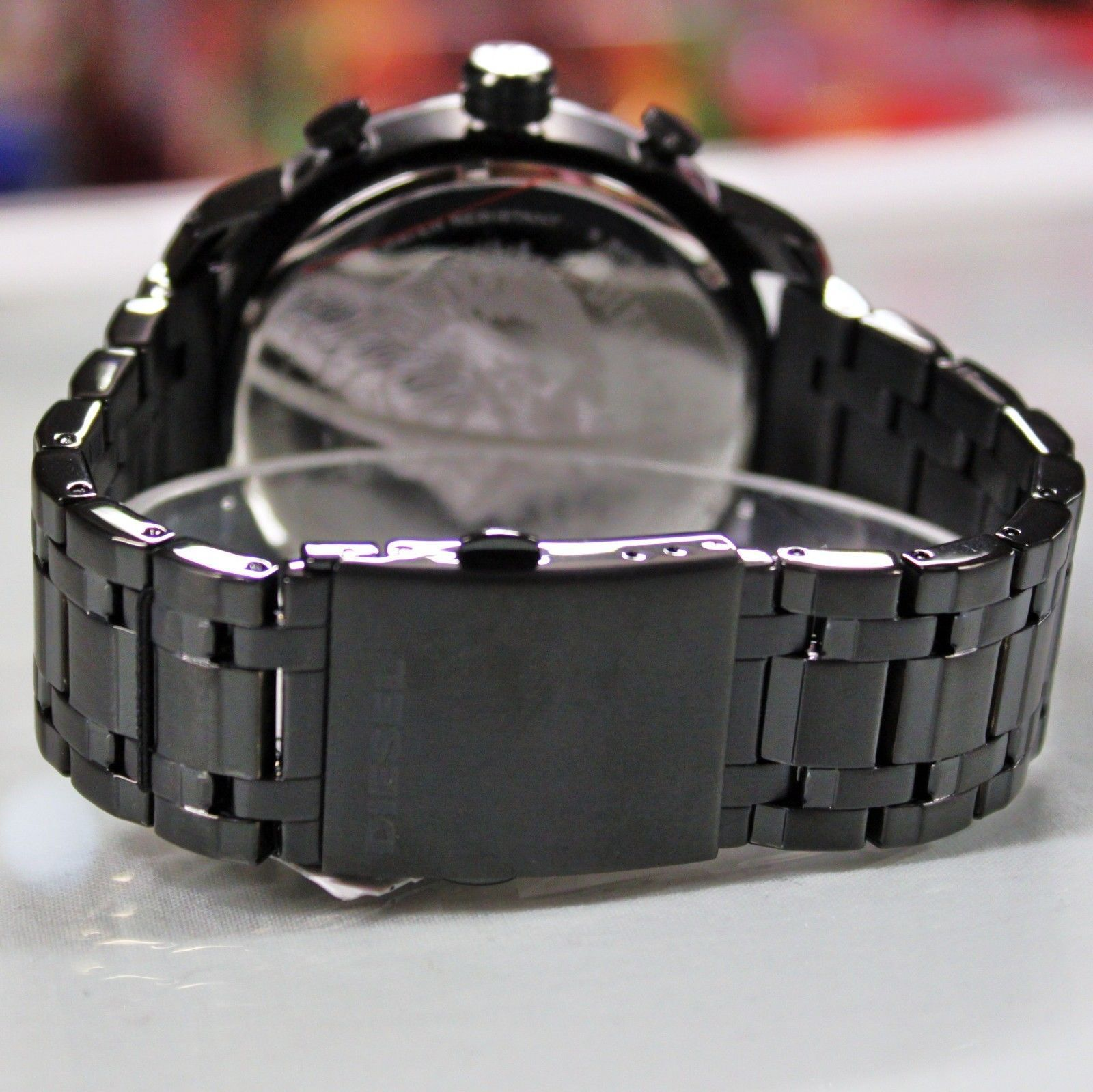 New Diesel DZ4349 Chronograph Stronghold Black Stainless Steel Watch for Men