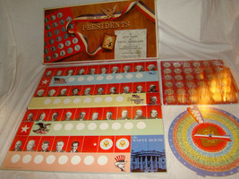 Vtg 1970 Meet the Presidents Board Quiz Coin Game Selchow Righter Richar... - $15.00