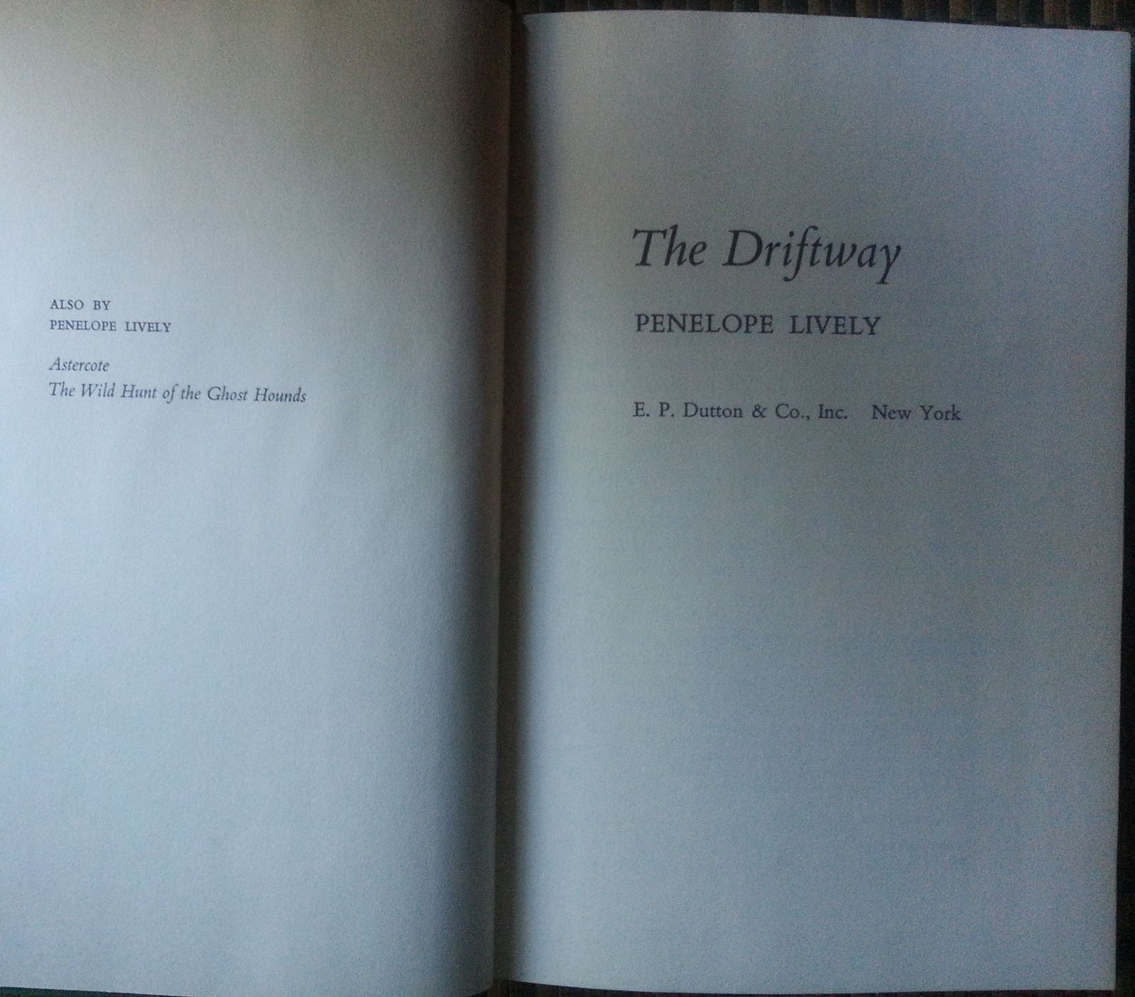 The Driftway by Penelope Lively 1972 HBDJ Ancient Road in England