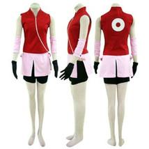 Naruto Haruno Sakura Cosplay Costume Japanese Anime Outfit - $58.99