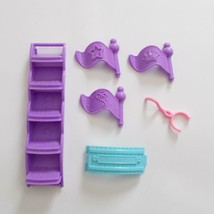 Fisher Price Little People Princess Castle Replacement Parts Stairs Flags - $9.89