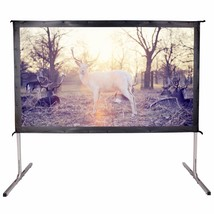 Movie Theater Projector Screen 100-inch 16:9 HD 5K Portable Projection B... - $149.99