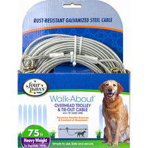 Four Paws Silver Four Paws Trolly Exerciser- Heavy Weight 75 Ft 04566384... - $55.97
