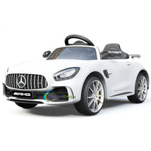 Ride On Toys Mercedes GTR Power 12V Battery Open Doors Remote Control White - $139.99