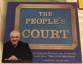 The Peoples Court Board Game, Model #7019, 1986, Hoyle. Judge Wapner. USA. - $15.44