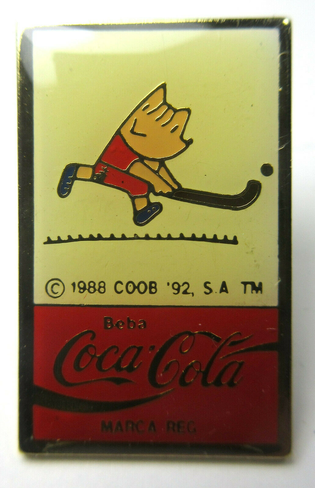 Vintage Coca Cola Coke Beba Barcelona 1992 Olympics Lapel Pins Track, Swimming image 6