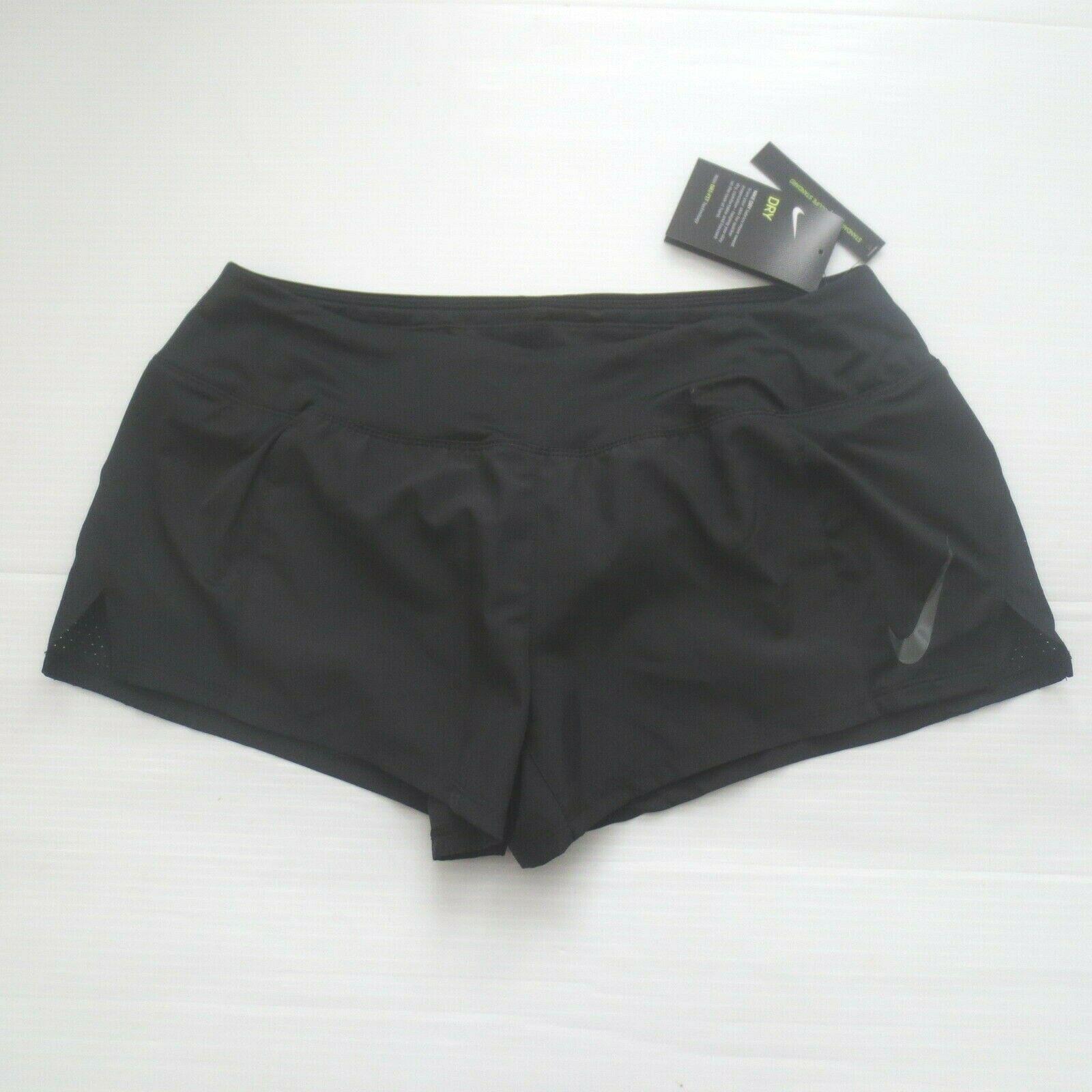 Nike Women Dry Running Shorts - 902281 - Black 010 - Size L -  NWT