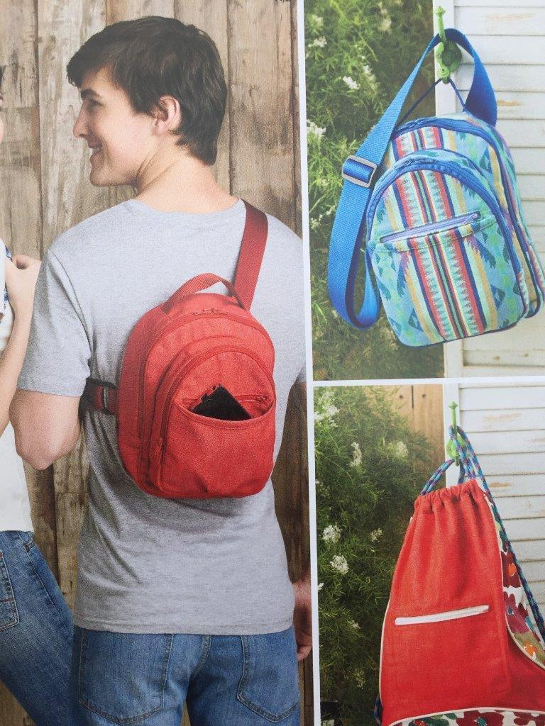 Simplicity Sewing Pattern 8150 Contoured Sling Cross Body Backpacks Size O/S New