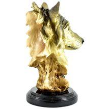 "Americana Rustic Nature Gray Wolf Head Bust 8.5""  Resin Figurine image 4"