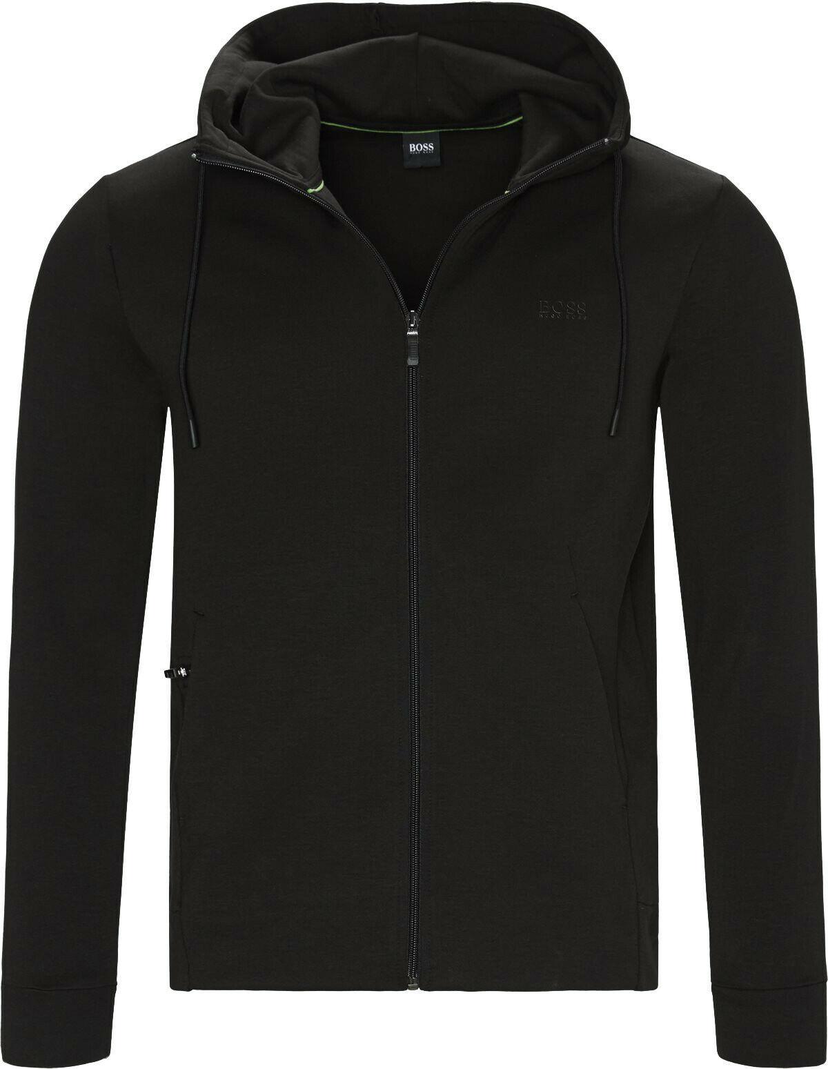 Hugo Boss Men's Sweater Zip Up Hoodie Sweatshirt Track Jacket Black