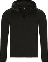 Hugo Boss Men's Sweater Zip Up Hoodie Sweatshirt Track Jacket Black
