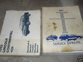 1992 FORD LINCOLN CONTINENTAL Service Shop Repair Manual Set W EVTM EWD ... - $17.88
