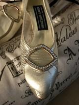 New Saks Fifth Avenue Vintage Stuart Weitzman Gold Mesh Cinderella Shoes - $99.00
