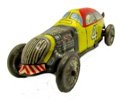 "Marx? Tin/Metal ""Girard"" #4 Wind-Up Car - $46.95"
