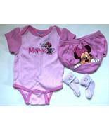 Girl's Size 3M 0-3 Months 2 Piece WWO Disney Two Pc Minnie Mouse Top, DC... - $16.00