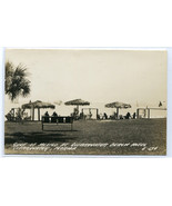 Gulf of Mexico at Clearwater Beach Hotel Florida 1950c RPPC Real Photo p... - $7.43