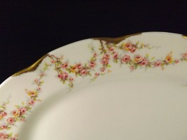 "Theodore Haviland New York Varenne Small Oval Platter 11"" Pink Roses & Gold - $14.80"