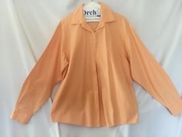 Talbots 100% Cotton Top Front Button Peach color wrinkle resistant Sz 14... - $19.95
