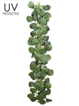 1pc, UV Protected Silk Peperomia Leaf Garland - 3' Long - $44.55