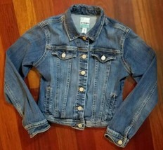Old Navy Jean Jacket Denim Blue Buttons Girls Size XL 14 - $10.39