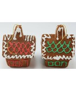 Vintage Christmas Tree Ornaments Frosted 2 Gingerbread Houses Styrofoam ... - $14.99