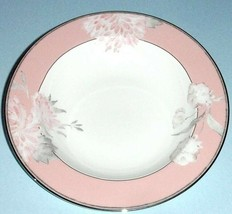 "Lenox Marchesa Spring Lark Rim Soup Pasta Bowl Pink Band & Florals 9"" New - $32.90"