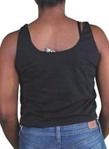 Civil Clothing da Donna Nero Parlare Che Muscolo Canottiera USA Fatto! Nwt image 2