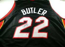 JIMMY BUTLER / 2020 ALL-STAR / AUTOGRAPHED MIAMI HEAT BLACK CUSTOM JERSEY / COA image 1