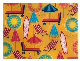 """Cutting Board, Glass, Extra Long, Rectangle, Beach Items, Summer Day, 12"""" X 15"""" - $11.87"""