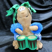 Cuddle Barn Palm Tree Petey Animated Musical Light Up Bongos Jump In The... - $39.99
