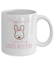 Happiness Is Spending Easter With You Bunny Rabbit Coffee Mug - $19.99