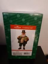 Kurt Adler Fabriche Santa St Patricks Day Green Clovers C7470 Christmas Figurine - $59.35