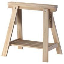 IKEA FINNVARD Adjustable Trestle with Shelf, Birch, 303.457.17, Set of 2... - $189.99