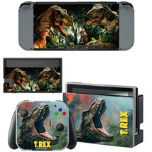 Nintendo Switch Console Joy-Con Vinyl Skins Sticker Dinosaur Jurassic World TRex - $7.52