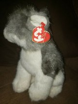 """Rare Retired Ty Beanie Buddies Classic """"Boomtown"""" The Wolf/Husky Pup Large 10"""" - $15.85"""