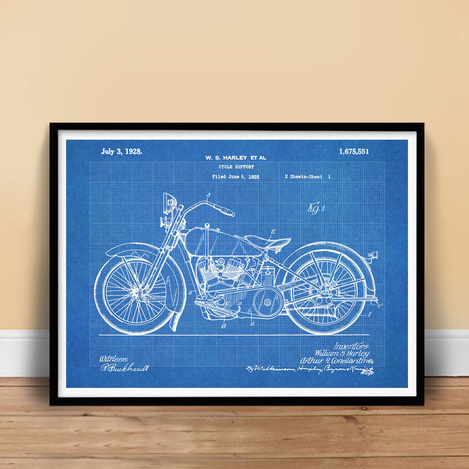 Harley davidson 1928 motorcycle poster and 9 similar items harley davidson 1928 motorcycle poster blueprint patent poster 18x24 unframed malvernweather Image collections