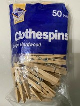 """50 Wood Wooden 2 3/4"""" Inch Large Spring Clothespins Laundry Clothes Pins... - $9.85"""
