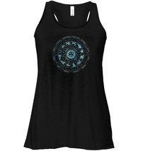 Vintage Zodiac Signs Illustration Astronomy Stars Flowy Racerback Tanks image 1