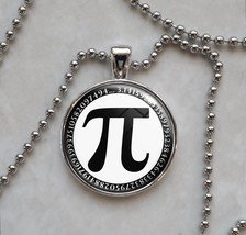 Pi π Symbol Choose A Color Mathematics Pendant Necklace - $14.00+