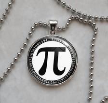 Pi π Symbol Choose A Color Mathematics Pendant Necklace - $14.00+