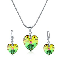 Ms Betti Wedding jewelry sets for brides S925 heart necklace and earring... - $26.30