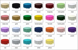 """2 Plastic round tablecloths 84"""" diameter table cover - $6.99"""